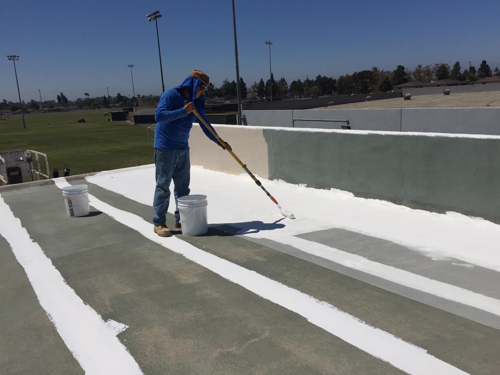 How To Apply Deck Flex S Elastomeric Roof Coating Deck Flex